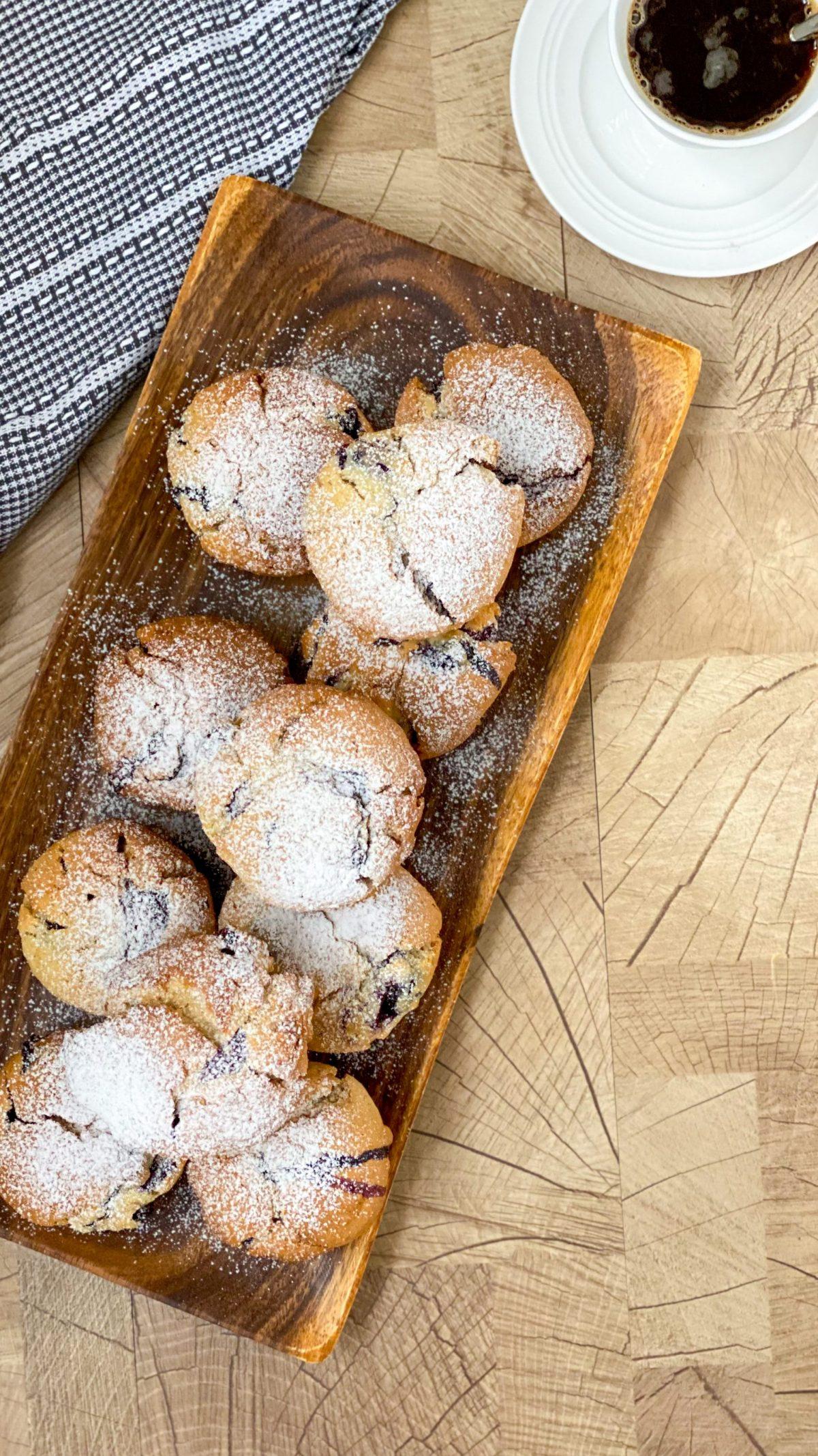 Blaubeer- Muffins mit Haferflocken